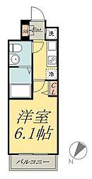 京成本線 堀切菖蒲園駅 徒歩5分の賃貸マンション 4階1Kの間取り
