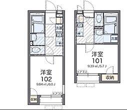 神奈川県横浜市港北区下田町4丁目の賃貸アパートの間取り