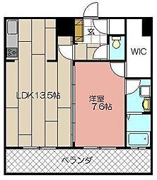 MOJI MID AIR[505号室]の間取り