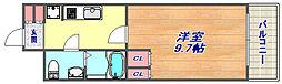カサグランデ魚崎3[105号室]の間取り