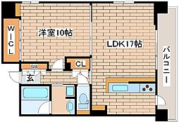 JR東海道・山陽本線 三ノ宮駅 徒歩8分の賃貸マンション 8階1LDKの間取り