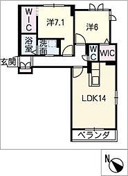 仮)リ ベルジェ II[3階]の間取り