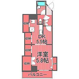エムワンマンション[7階]の間取り