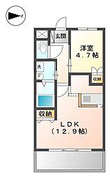 宇土新築マンション[2階]の間取り