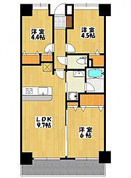 レ・ソール本八幡[7階]の間取り