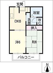 フレグランス緑[2階]の間取り