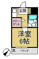 ボナール持田[C号室]の間取り