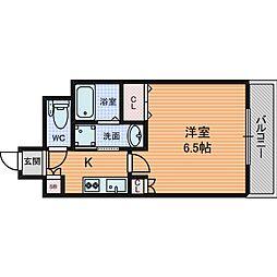 ACTY天満橋 (アクティーテンマバシ) 9階1Kの間取り