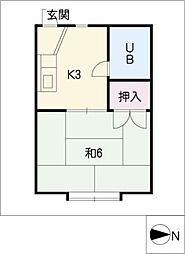 ユングハイツ[2階]の間取り