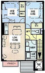 兵庫県姫路市的形町的形の賃貸アパートの間取り