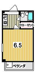 森マンション3[303号室]の間取り