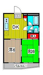 ホーマット北浦和[3階]の間取り