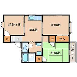 静岡県静岡市清水区高橋5丁目の賃貸アパートの間取り
