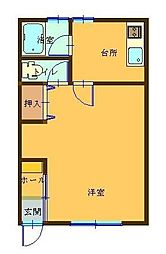 青い森鉄道 東青森駅 徒歩30分の賃貸アパート 1階1Kの間取り