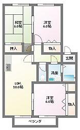 コールハイム[2階]の間取り