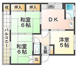 シャクドウマンション[2階]の間取り