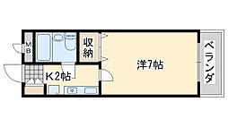コーポ福田[208号室]の間取り