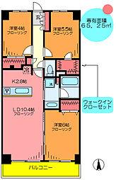 東京都足立区加平2丁目の賃貸マンションの間取り