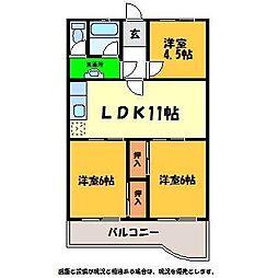 八弘マンション[2階]の間取り