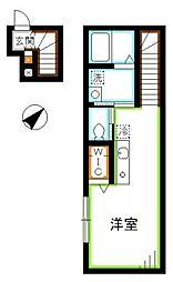 JR中央本線 吉祥寺駅 徒歩12分の賃貸アパート 2階1Kの間取り