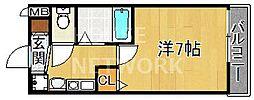 KDXレジデンス西院[702号室号室]の間取り