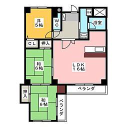 シャトー桜ヶ丘II[1階]の間取り