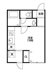 Common 2nd KamitokoroA棟[205号室]の間取り