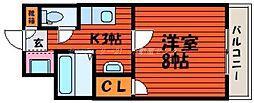 岡山県岡山市北区高柳東町の賃貸マンションの間取り