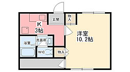 Mickey Garden 2番館[2階]の間取り