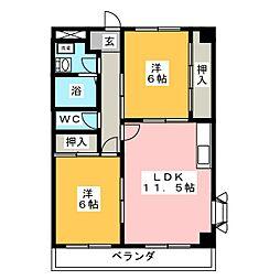 ヴィップインアベニュー[4階]の間取り