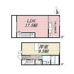 JR久大本線 久留米大学前駅 徒歩10分の賃貸アパート 1階1LDKの間取り