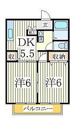 シャルムナガオ[2階]の間取り