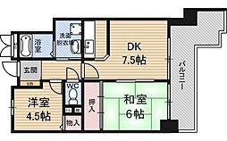ライオンズマンション新大阪第6[5階]の間取り