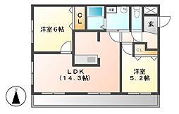 愛知県名古屋市港区正徳町6の賃貸マンションの間取り