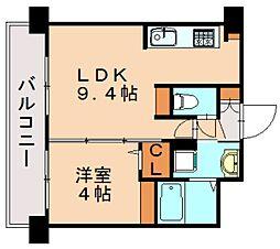 三島マンション博多駅東[2階]の間取り