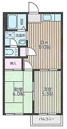 サニーセゾン東永谷A[203号室]の間取り