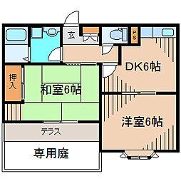 松韻別荘[1階]の間取り