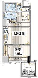 レオンコンフォート本町橋 3階1LDKの間取り