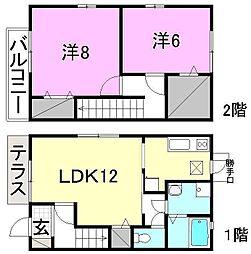 [テラスハウス] 愛媛県松山市今在家4丁目 の賃貸【/】の間取り