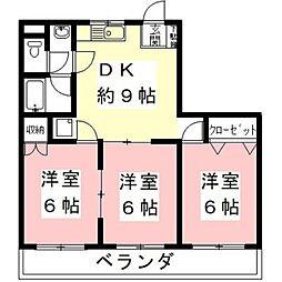 メゾン新明[4階]の間取り