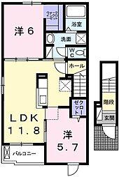 H・Tミニョン姫路[201号室]の間取り