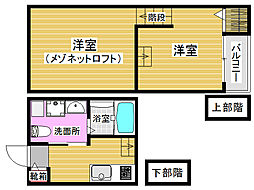 福岡県福岡市城南区友丘2丁目の賃貸アパートの間取り