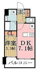 アルティジャーノD'S谷塚[8階]の間取り