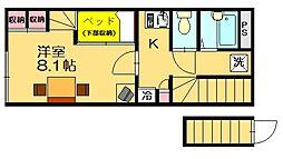 レオパレス花水樹SUE[1階]の間取り