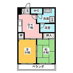 第5梅野ビル[5階]の間取り