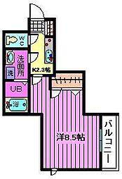 シャーメゾンU[202号室]の間取り