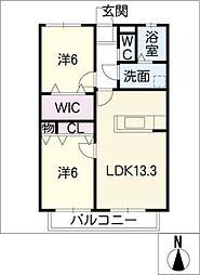 ソフィア B棟[1階]の間取り