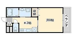 TABIYADO SENNAN 2階1Kの間取り
