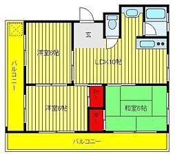 第三関東マンション[3階]の間取り