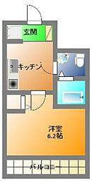 ラシーヌ日本橋[8階]の間取り